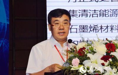 yabo亚博体公司总裁马庆推介石墨烯产业化重点项目